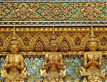 Giant and Garuda Model as Fence of Grand Temple in Thailand Stock Images