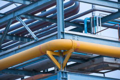 Giant gas and oil pipelines Royalty Free Stock Photo