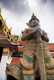 Giant gate keeper of the Royal Palace in Bankok Stock Photos