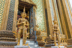 Giant Gate Keeping Sculpture at Grand Palace Royalty Free Stock Images