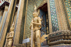 Giant Gate Keeping Sculpture at Grand Palace Royalty Free Stock Photo