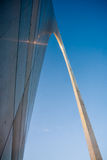 The giant Gateway Arch (close-up) Royalty Free Stock Image