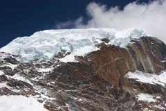 Giant glacier at mountain summit, Himalaya, Nepal Stock Images
