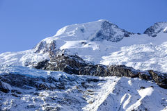 Giant glacier tongue Fee Glacier (Fee Gletscher) in Saas Fee Royalty Free Stock Photos