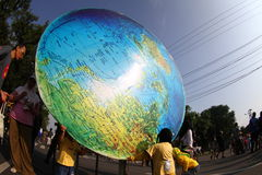 Giant globe Stock Photography
