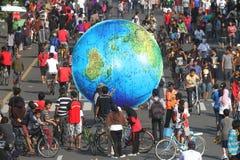 Giant globe Royalty Free Stock Photography