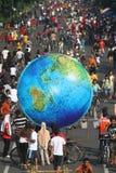 Giant globe Royalty Free Stock Image