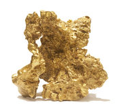 Giant gold nugget Stock Image