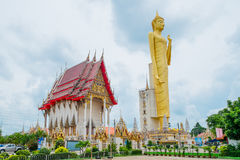 The giant golden Buddha,Buddhism,Thailand. The giant golden Buddha.Buddhism is the respect of the general.In Roi Et Province Thailand Stock Photos
