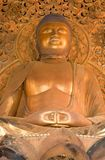 Giant Golden Buddha, Byodo-In Temple Stock Photo