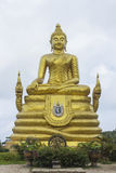 Giant golden Buddha Stock Images