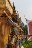 Giant golden statue, Thailand. Yak sculptures of a Buddhist Temple, Thailand Royalty Free Stock Photos