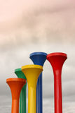 Giant golf tees Stock Images