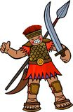 The Giant Goliath. Cartoon illustration of the giant Philistine warrior Goliath Royalty Free Stock Images