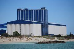 Giant grain silos Stock Image