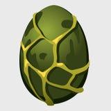Giant green dinosaur egg, cartoon icon Stock Photos