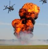 Giant ground explosion Royalty Free Stock Photo