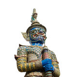 Giant guard statue at thai temple Stock Photography