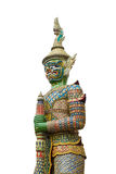 Giant guard statue at thai temple Royalty Free Stock Images