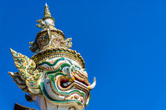 Giant Guard Statue at Wat pra Kaew Bangkok Thailand Stock Images