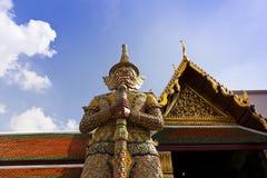Giant guardian at Grand Palace in Bangkok Stock Photo