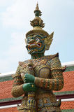 Giant Guardian Statue in the Grand Palace Royalty Free Stock Image