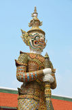 Giant Guardian Statue in the Grand Palace Stock Photos
