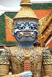 Giant guardian statue in Grand Palace, Bangkok, Thailand. Giant guardian statue in Wat Phra Kaew, Grand Palace, Bangkok, Thailand Royalty Free Stock Photography