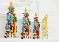 Giant guardian statue in Thai style Stock Images