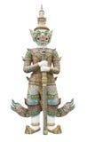 Giant guardian statue in Wat Phra Kaew Grand Palace Bangkok Royalty Free Stock Photos