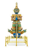 Giant guardian statue in Wat Phra Kaew Grand Palace Bangkok Royalty Free Stock Photography