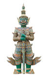 Giant guardian statue in Wat Phra Kaew Grand Palace Bangkok Stock Photo