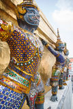 THE giant guardian in temple thailand Stock Photography