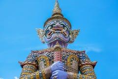 Giant Guardian at Wat Pho, Bangkok, Thailand. Giant Guardian at Wat Pho known as Yak Wat Pho, Bangkok, Thailand Royalty Free Stock Images