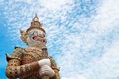 Giant guardian @ Wat Phra Kaew Royalty Free Stock Images