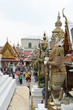 The Giant Guardians Statues in the Grand Palace Royalty Free Stock Photos