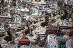 Giant guardians at Wat Pho Royalty Free Stock Photos