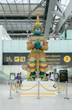 Giant guarding statue at Suvanaphumi Airport,. BANGKOK - JUNE 21 : Giant guarding statue at Suvanaphumi Airport, JUNE 21, 2014,Suvarnabhumi airport is world's Royalty Free Stock Image
