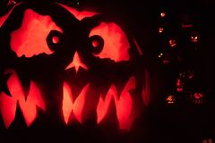 Giant Halloween Pumpkin stock photography