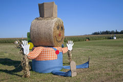 Giant Halloween Scarecrow Stock Photo