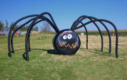 Giant Halloween Spider Stock Photo