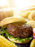 Giant hamburger Royalty Free Stock Photos