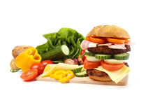 Giant Hamburger Royalty Free Stock Photography