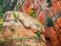 Giant Hand of Buddha in Leshan Stock Image