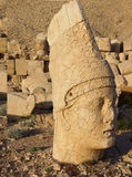 Giant head of Antiochus I Commagene,tumulus of Nemrut Dag,  Turk Stock Image