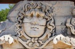 Giant head of the Gorgon Medusa Stock Image