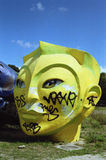 Giant head of Ho (Fifa World Cup 1998 in France). Royalty Free Stock Images
