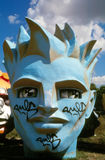 Giant head of Romeo (Fifa World Cup 1998 in France Stock Photo