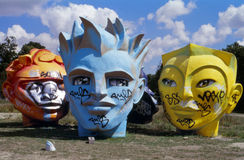 Giant heads (Fifa World Cup 1998 in France). Stock Photography
