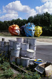 Giant heads (Fifa World Cup 1998 in France). Royalty Free Stock Photos